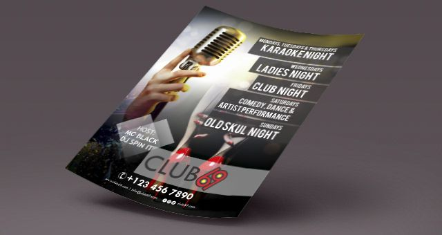 Editable club flier template, can be edited and tweaked to your