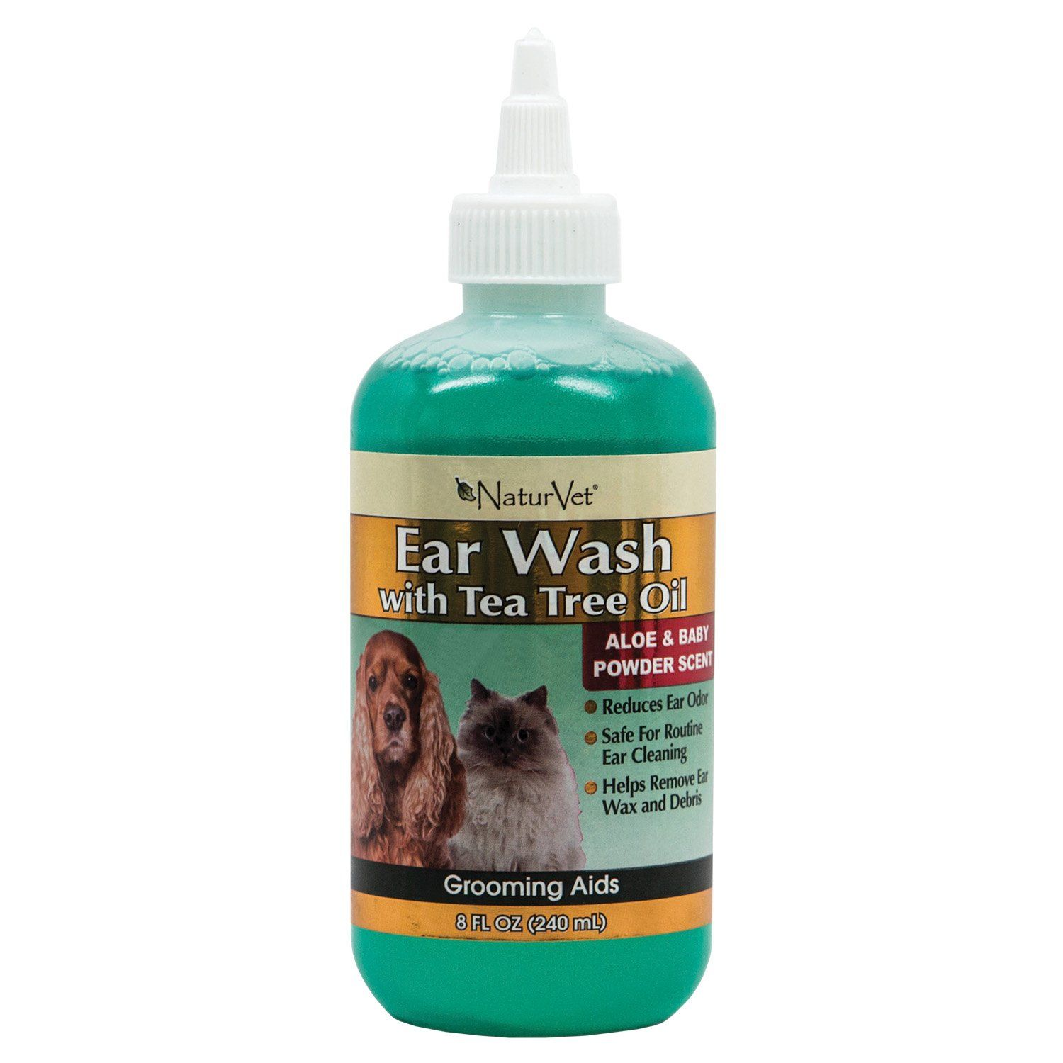 NaturVet Ear Wash with Tea Tree Oil for Pets Petco Store