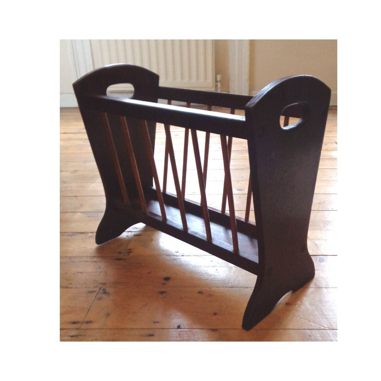 rack style pin furniture japonica vintage art deco wooden holder magazine with painted