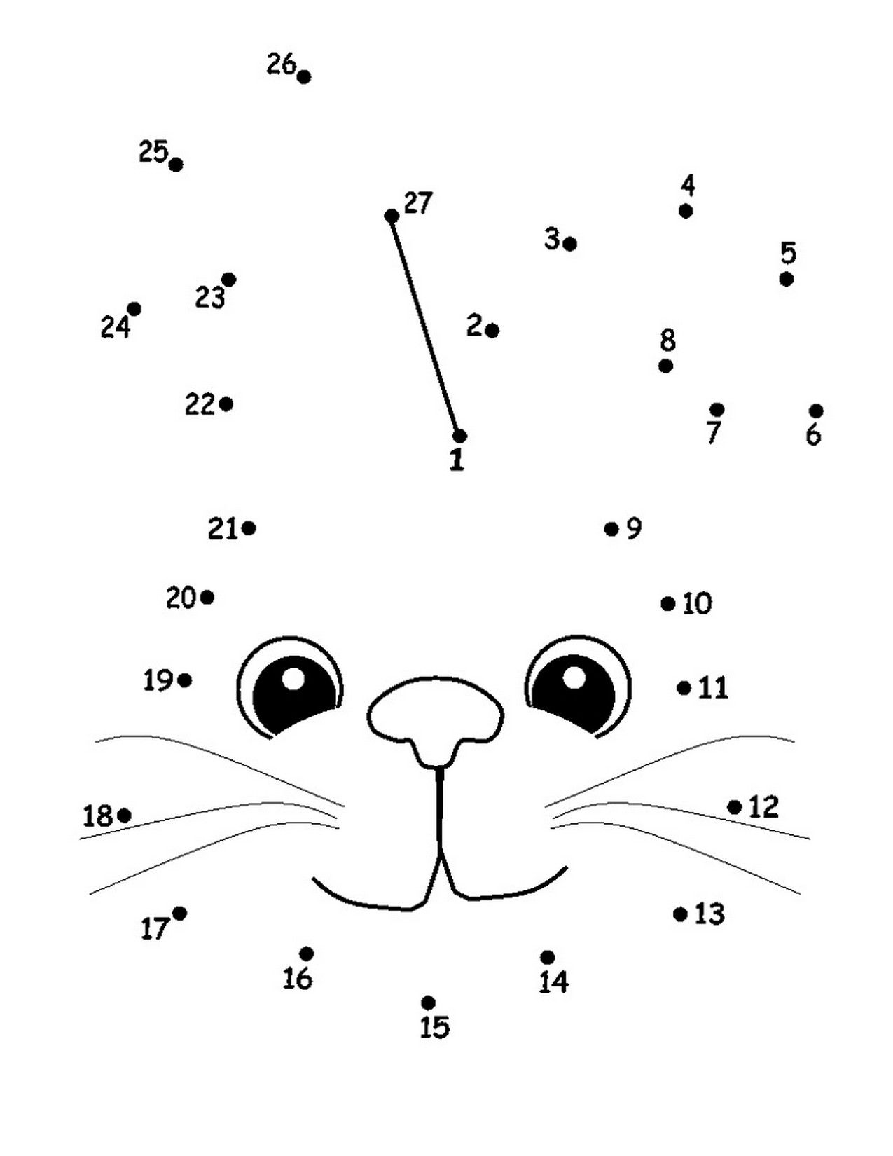 Dot To Dot Number Worksheets