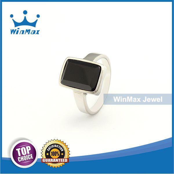 WinMax 2015 New Design Wedding Ring Retro Punk Natural Semi-precious Gem Stone Stainless Steel Rings For Men