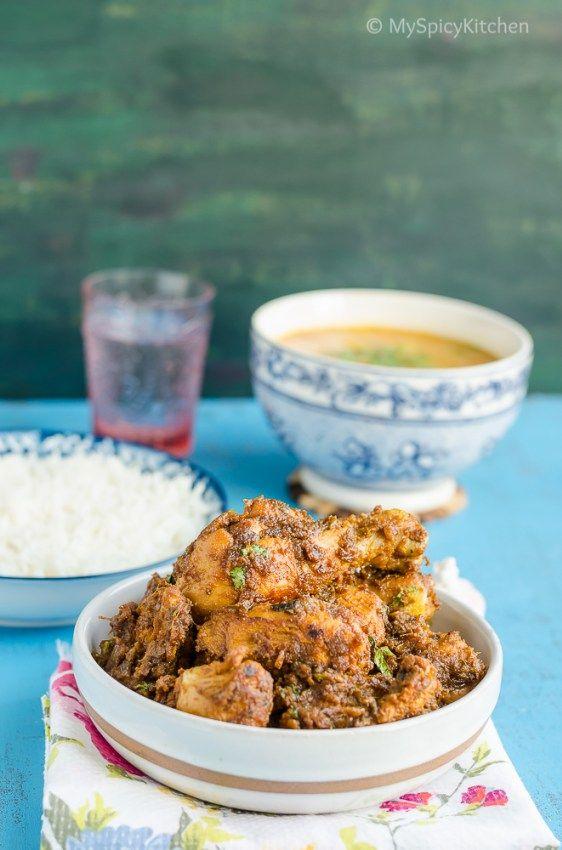 Xtra Spicy Golichina Kodi Koora Xtra Spicy Chicken Curry Myspicykitchen Spicy Chicken Indian Food Recipes Curry Chicken