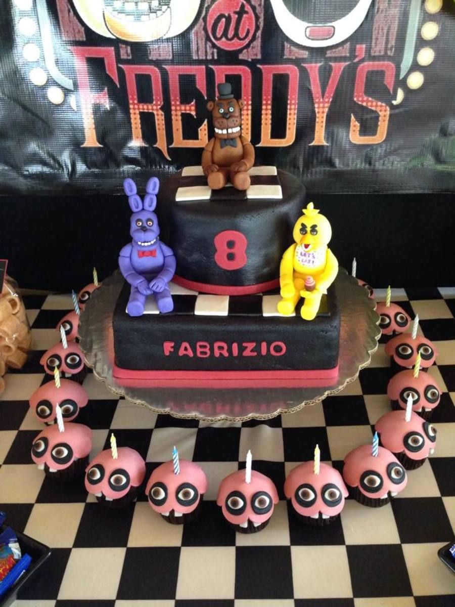 Ideas five nights at freddy party - Five Nights At Freddy S Cake And Cupcakes