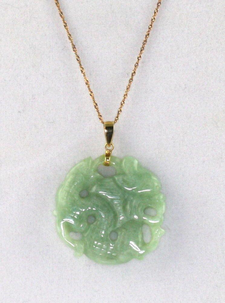Jade dragon pendant gold blue dragon golden poo respawn
