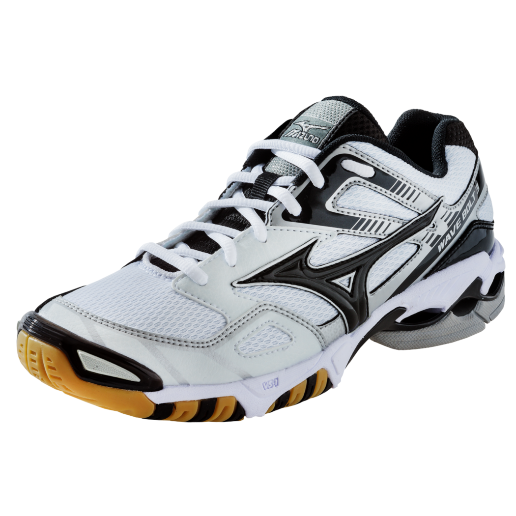 Mizuno Wave Bolt 3 Womens Volleyball Shoe White Black Volleyball Shoes Badminton Shoes Sporty Shoes