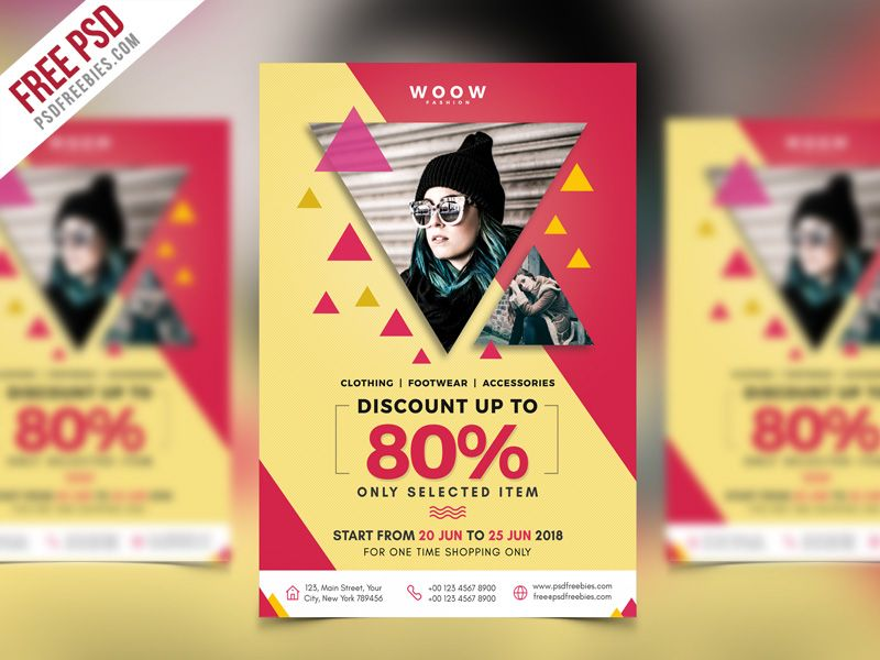 Free Psd Fashion Sale Promotion Flyer Psd Template Psd Templates