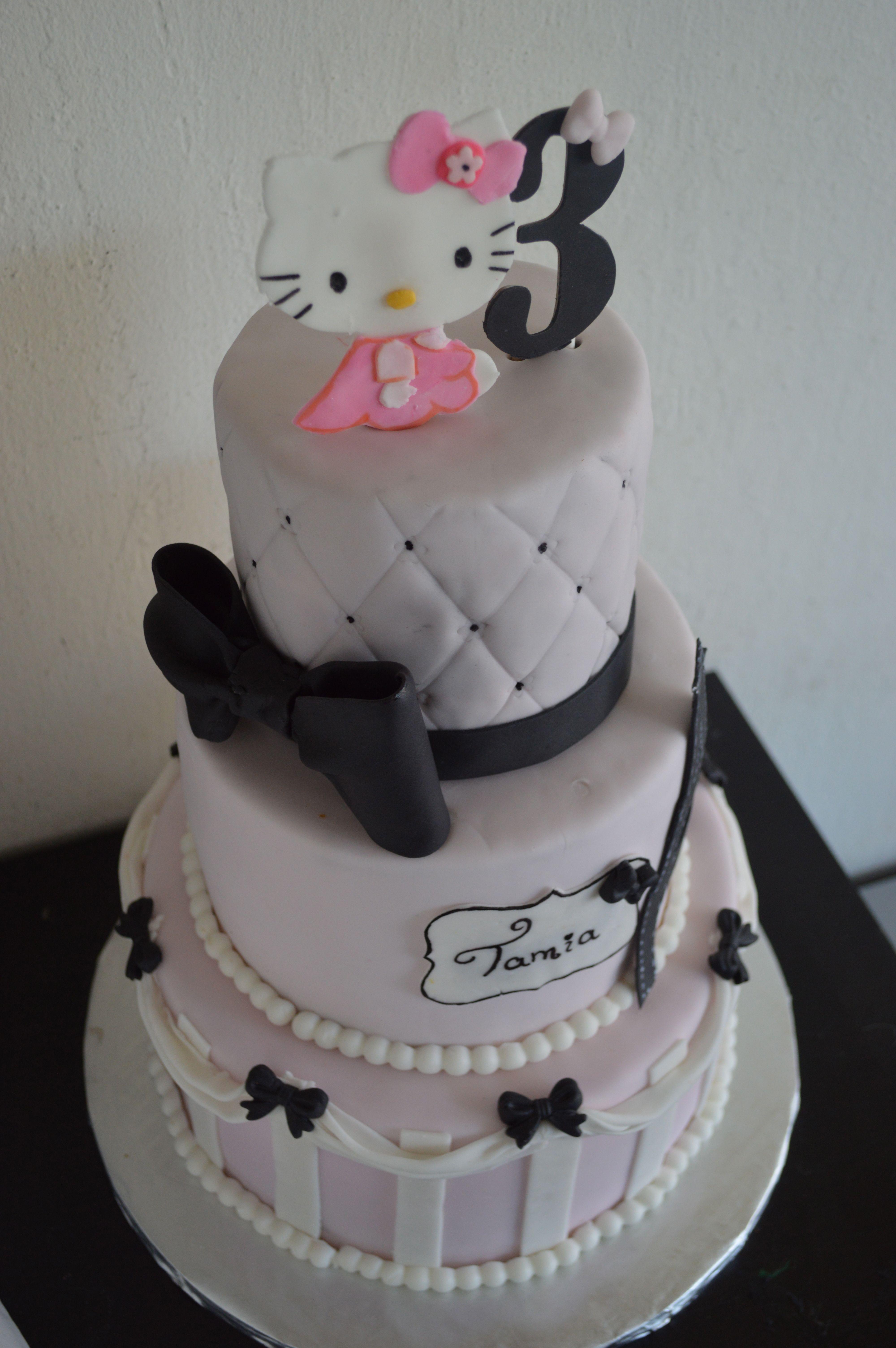 Hello Kitty In Paris Cake Girl Birthday Cakes By Anya - Birthday cake paris