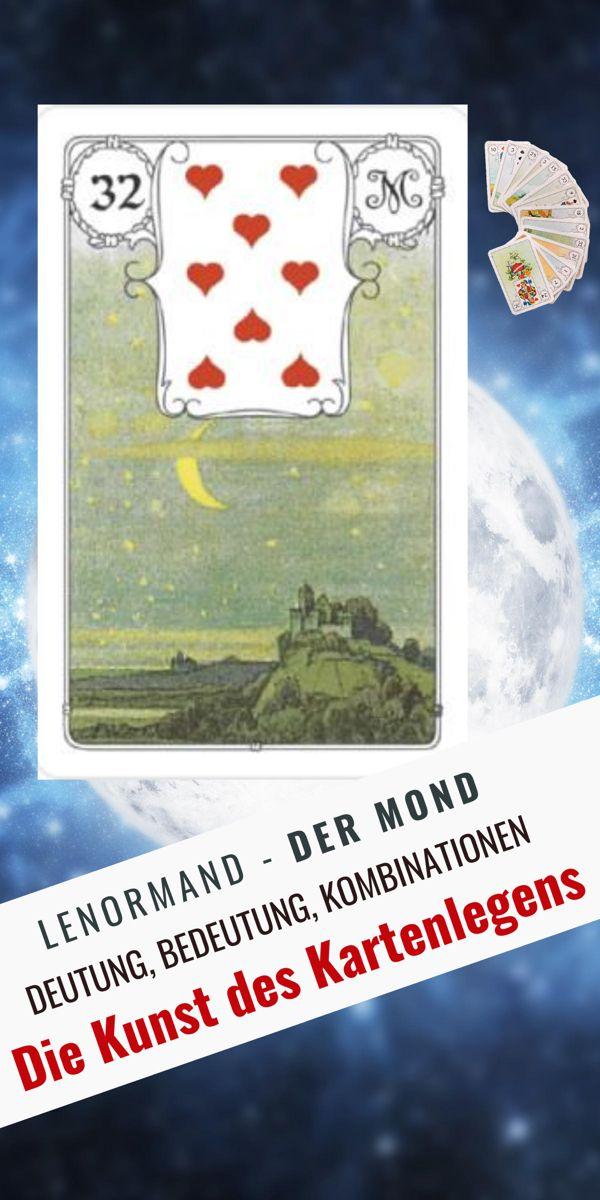 Lenormand der Mond 32 - Deutung, Bedeutung, Kombinationen