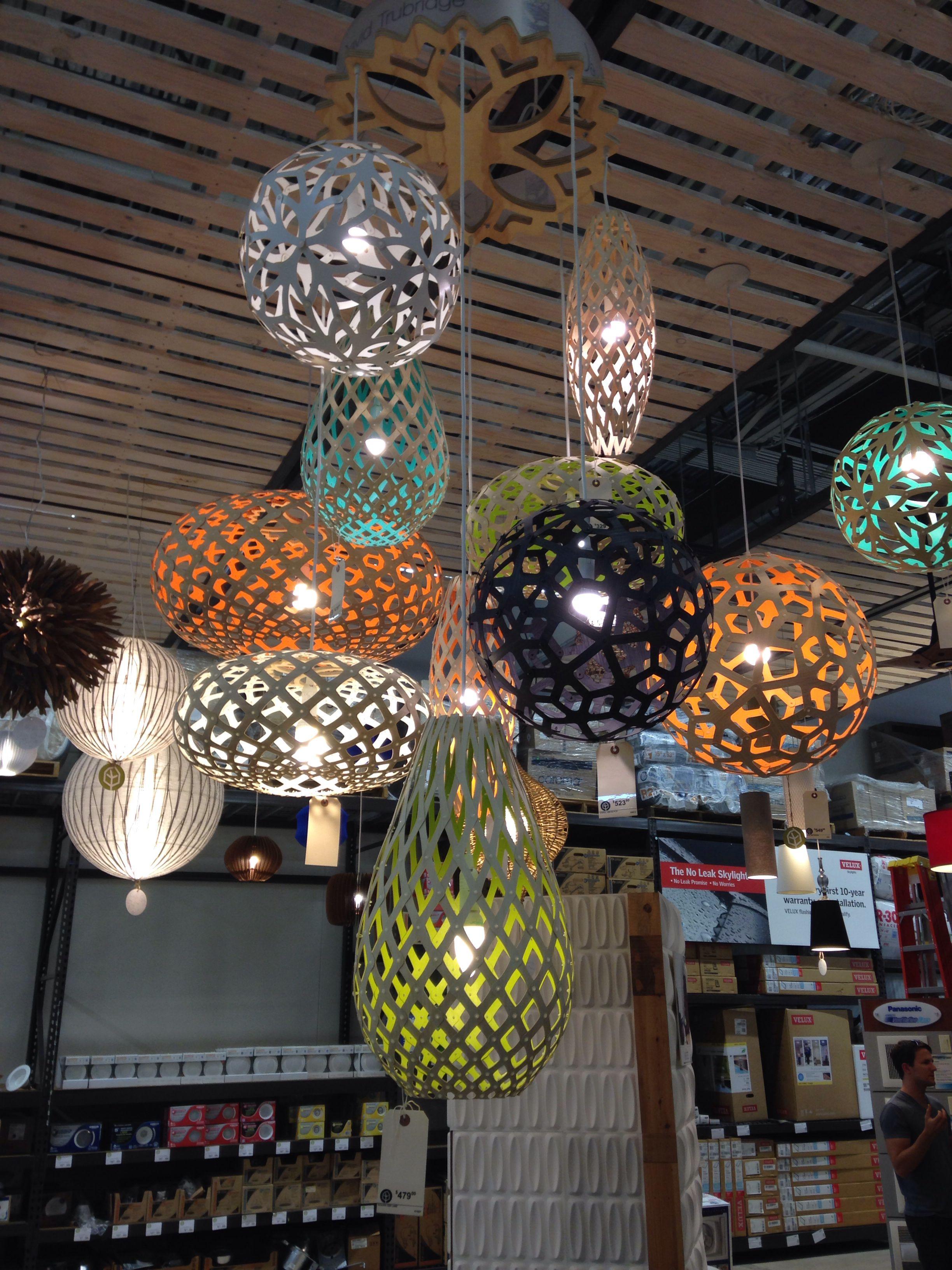 David Trubridge light fixtures. lighting David