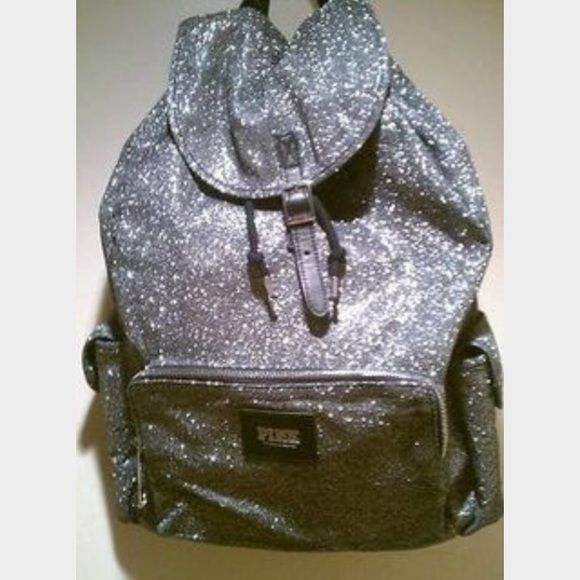 Victoria's Secret PINK bling backpack bag Drawstring backpack Victoria's Secret Bags Backpacks