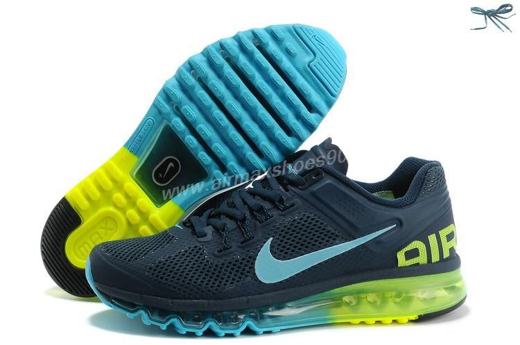 Armory Navy Gamma Blue Volt Shoes Mens Nike Air Max 2013 554886-447