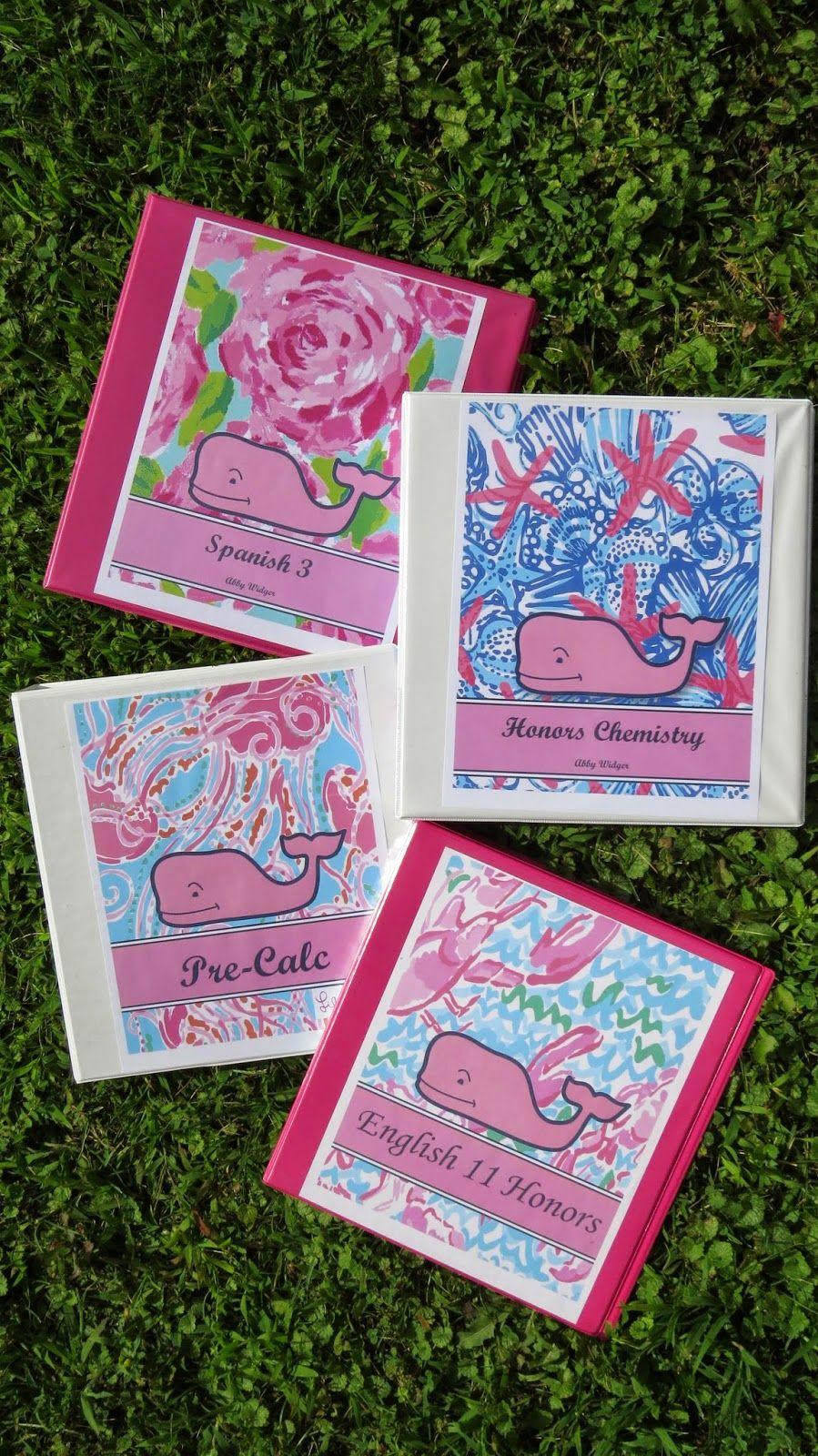 diy preppy binder covers back to school series back to school