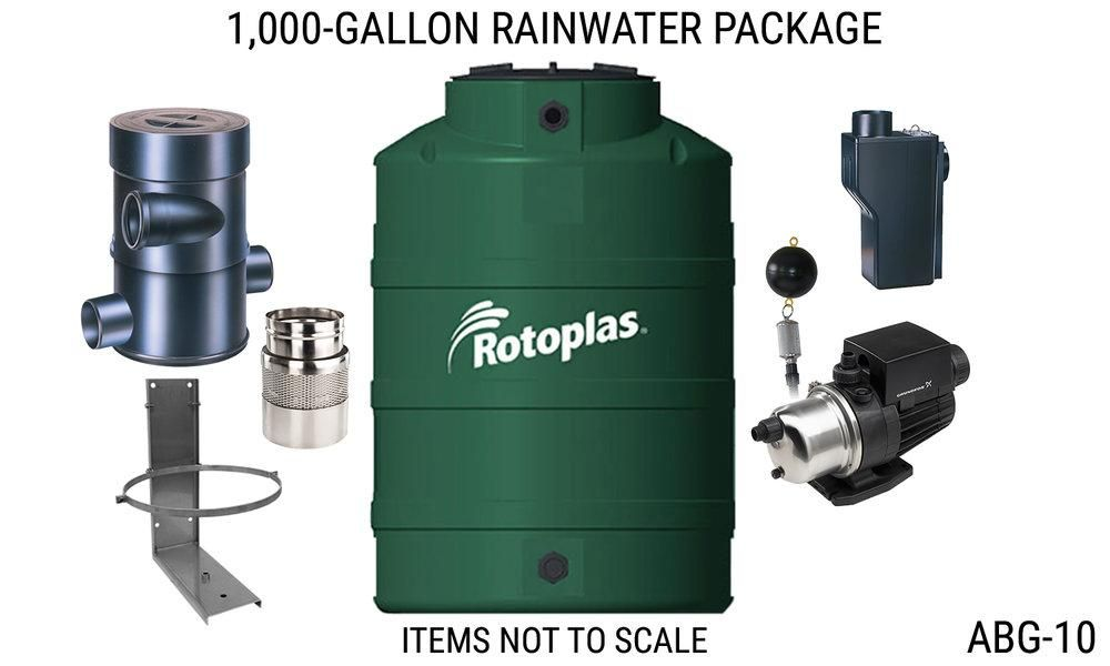 Rms 1000 Gallon Above Ground Rainwater Harvesting Package Rainwater Harvesting Rainwater Harvesting System Water From Air