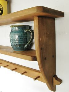 Vintage Country Kitchen Two Tier Shelf