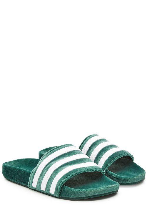 8c8e22560a0f2f ADIDAS ORIGINALS Adilette Velvet Slides.  adidasoriginals  shoes ...