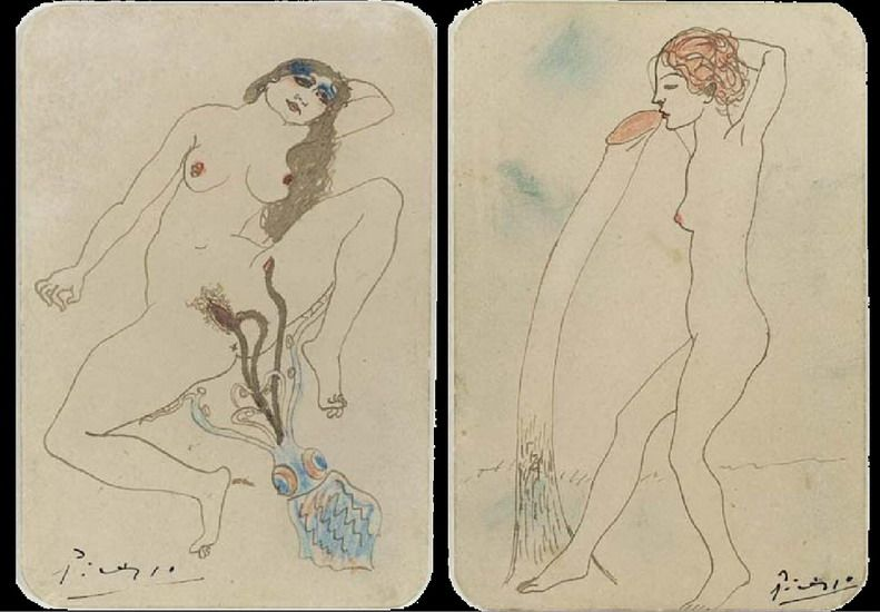 Contour Line Drawing Picasso : Pablo picasso erotic sketches draw and japanese prints