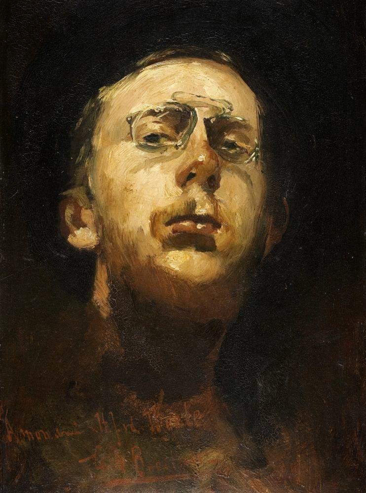 George Hendrik Breitner - Self portrait, 1882 (1857-1923)