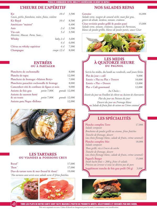 Menu de la carte id e resto pinterest menus la for Idee menu diner amis