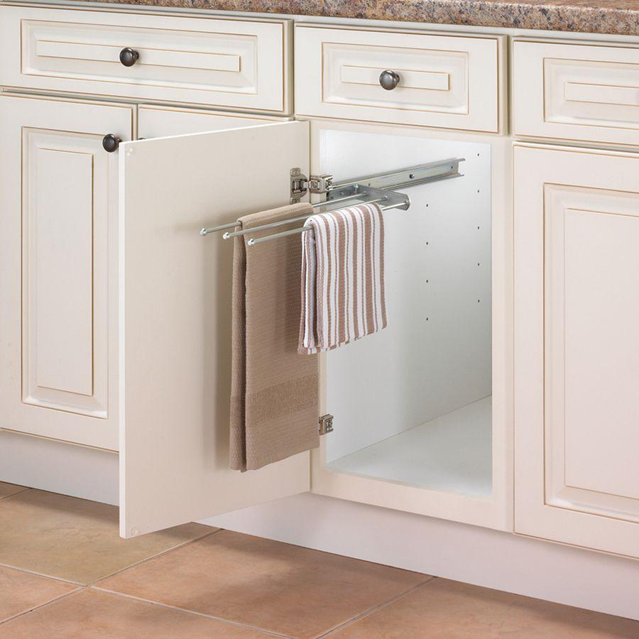 Knape Vogt 131 In W X 5 In H Metal Pull Out Cabinet Door Towel