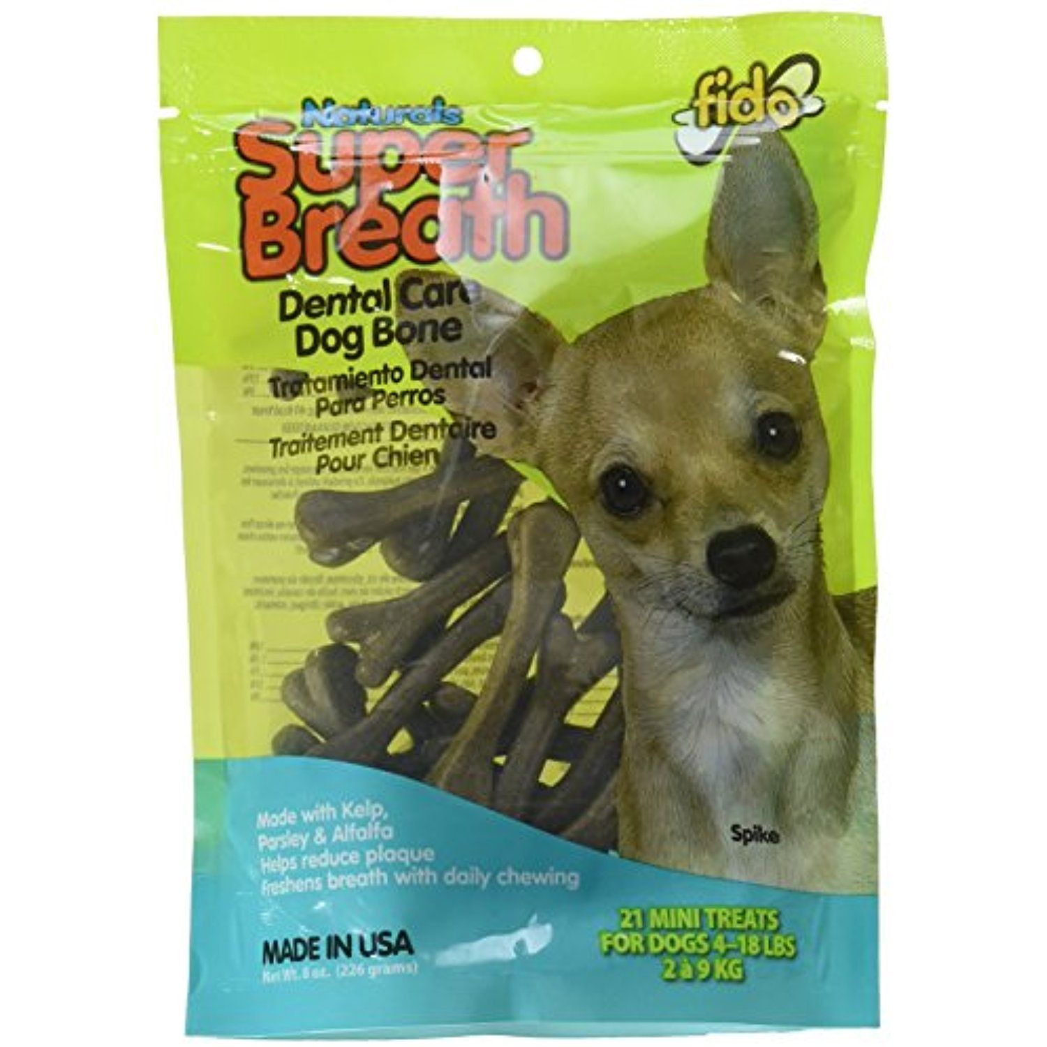 Fido Super Breath Dental Care Dog Bones With Chlorophyll