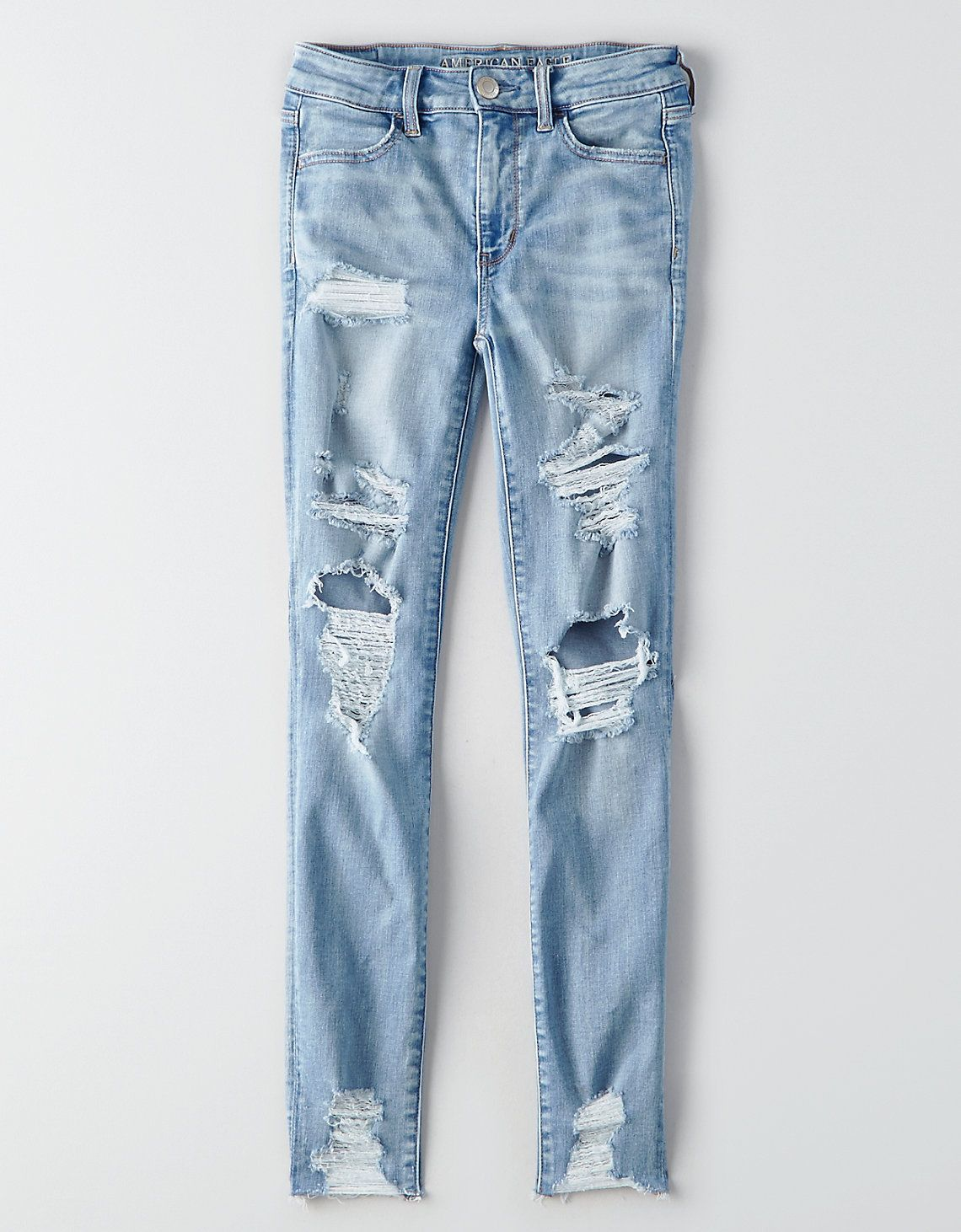 37d40d1661f76 AEO Denim X Hi-Rise Jegging, Ice Woman | American Eagle Outfitters ...