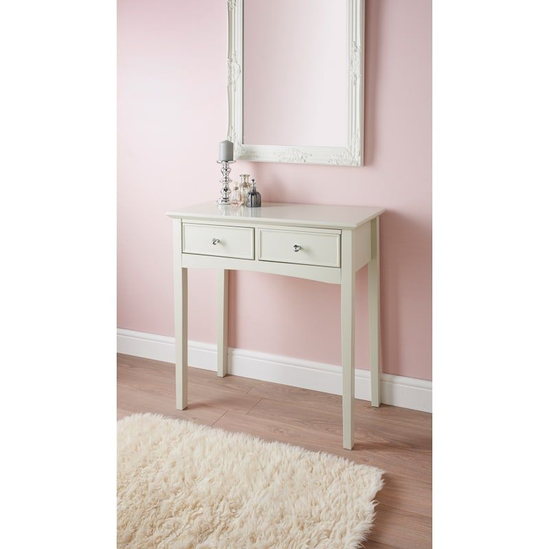 huge discount 271fb 1da7b Arabella 2 Drawer Console Table | Bedroom Furniture - B&M in ...