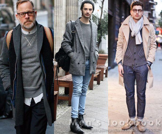 사계절 이너아이템으로 제격인 남자 회색니트 코디 그레이컬러 남성패션 패션 사계절