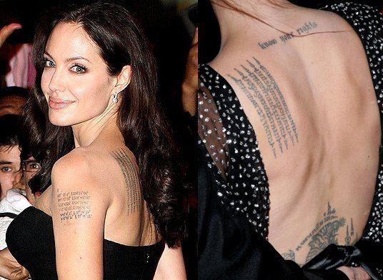 tatouage femme épaule angelina jolie | tatouage femme sur l'épaule