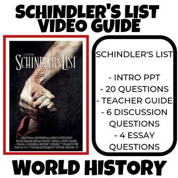 Schindler's List Movie Guide Intro PPT and Video | (͡• ͜ʖ ͡•) TPT
