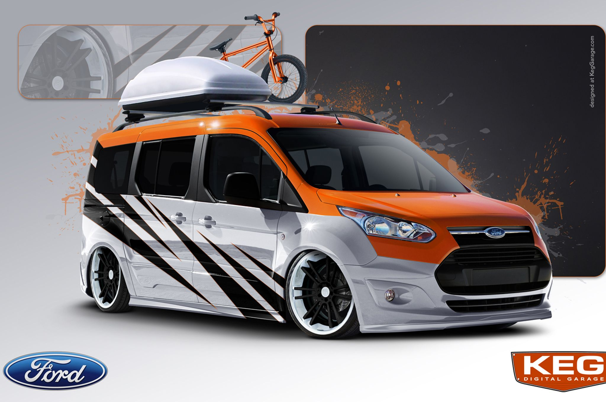 Ford Transit Connect Taking Over 2013 Sema Show Ford Transit