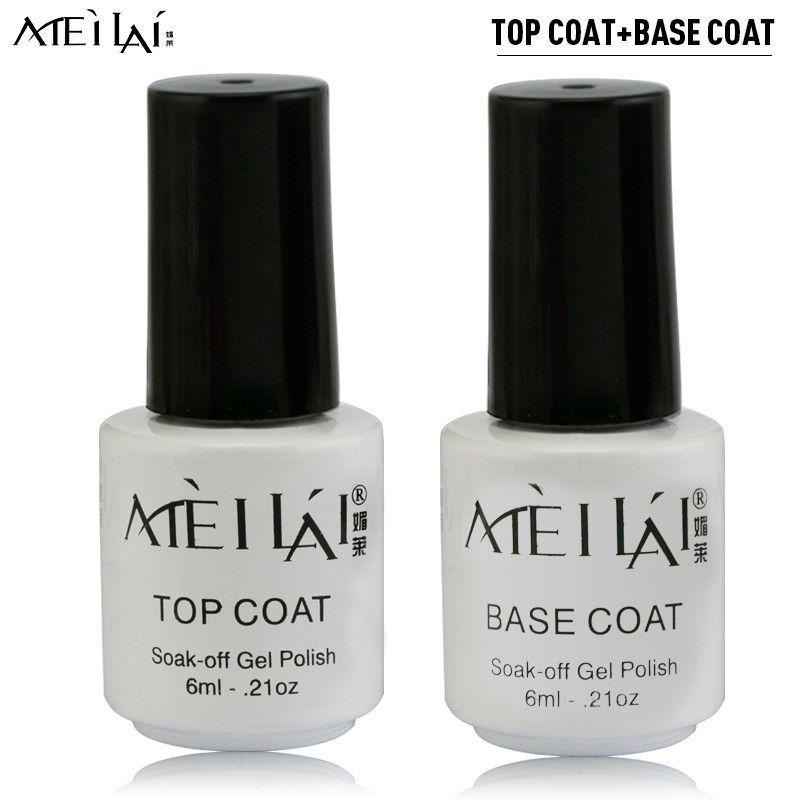 Smalto Gel UV Meilai Top Coat + UV Base Coat Gel Esmalte De Unas for ...