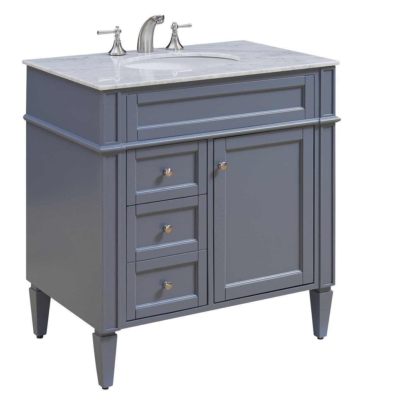 Somette 32 Madison Single Bathroom Vanity Set In Grey Grey Size Single Vanities 12inchspreadbathroomfaucet Single Bathroom Vanity Bathroom Vanity Vanity [ 1385 x 1385 Pixel ]