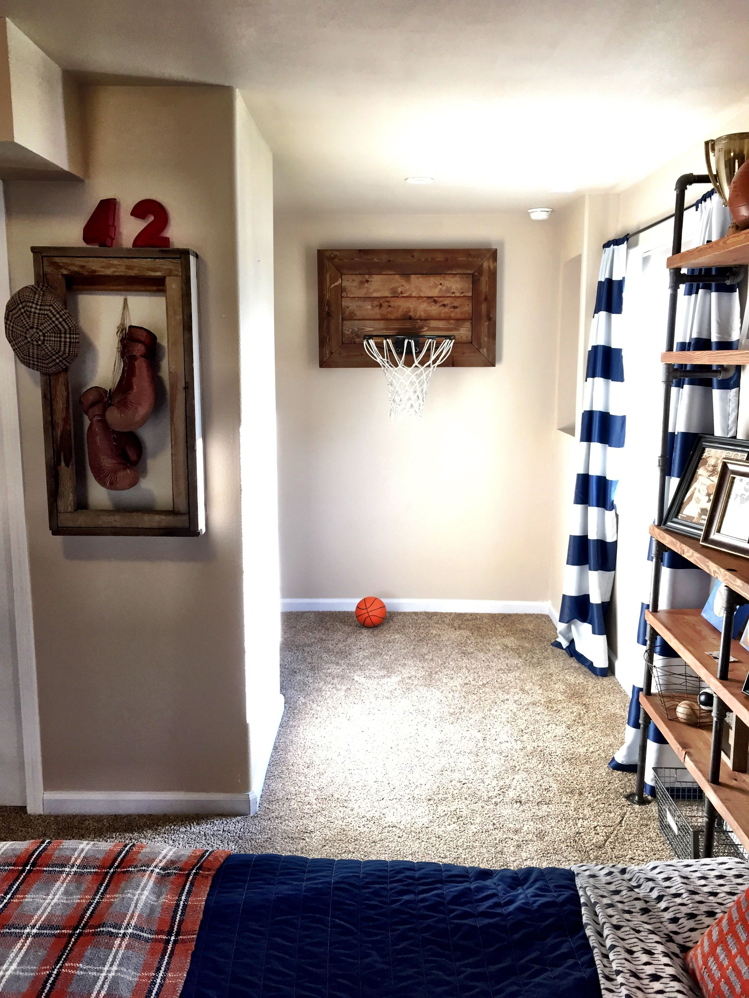 Sports Themed Rooms Vintage Sports Themed Bedroom  Lady's Little Loves  Vintage
