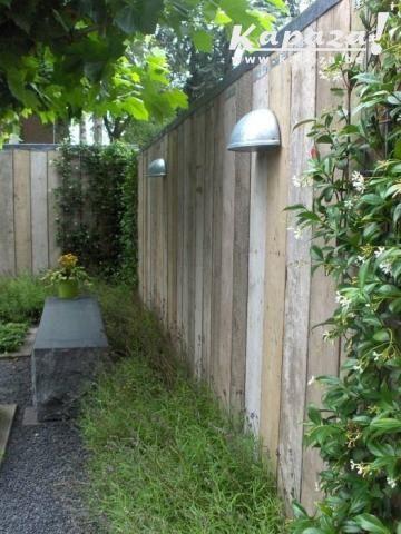 Steigerhouten schutting net even anders limburg garden pinterest schutting net en tuin - Moderne tuin ingang ...