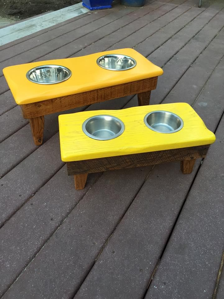 Recycled #Pallets Dog Bowl Stand | 99 Pallets