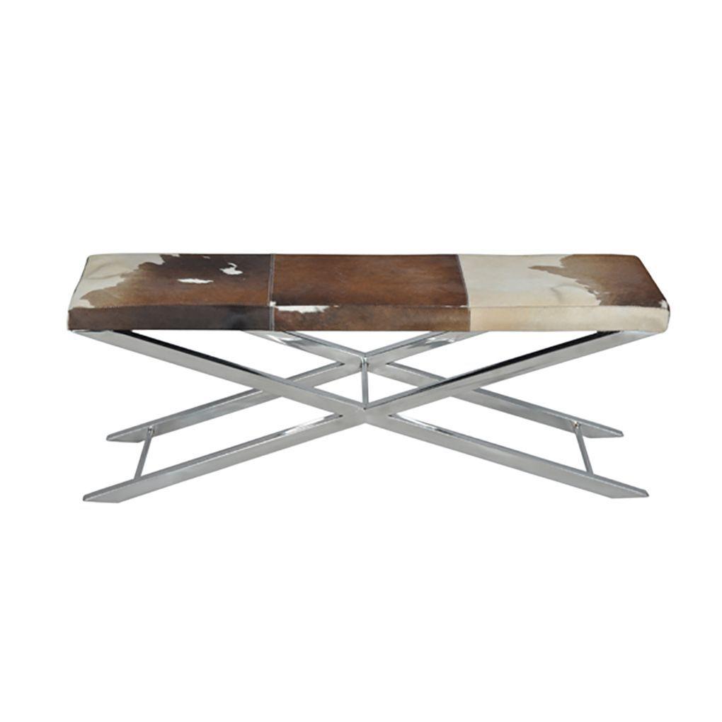 Horizon Choco/ White Hide Artisan Cross Bench (Artisan Cross Bench Choco /  White Hide · Chocolate CowStorage ...