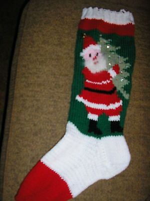 Old Knitted Christmas Stocking Patterns Vintage Hand Knit