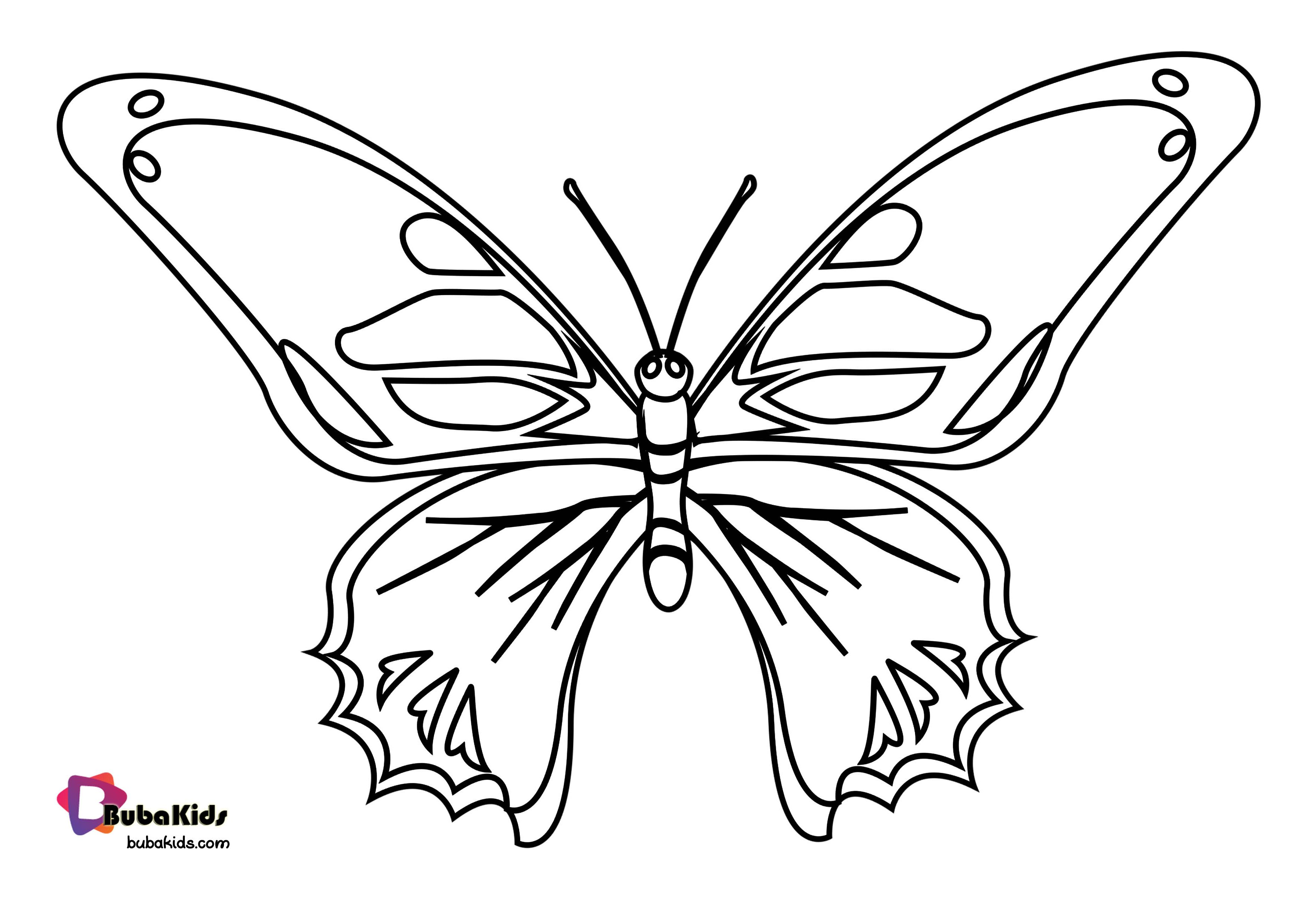 Bubakids Realistic Butterfly Coloring Page Butterflycoloring Animal Coloring Pages Butterfly Coloring Page Coloring Pages Animal Coloring Pages [ 2480 x 3508 Pixel ]
