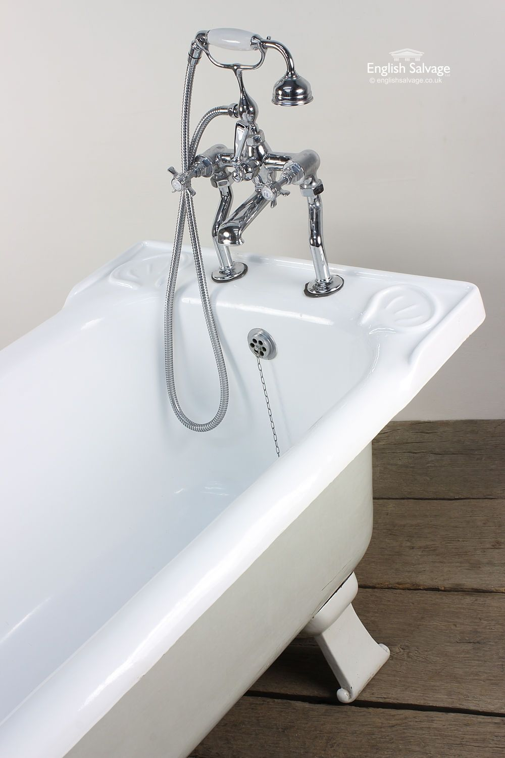 Reclaimed Large Bath with Shower Mixer Taps | Bathrooms, Belfasts ...