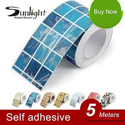 2016 New Kitchen Wall Sticker Vinyl Adhesive Wallpaper Roll Bathroom Tile Paper Waterproof Mosaic Pvc