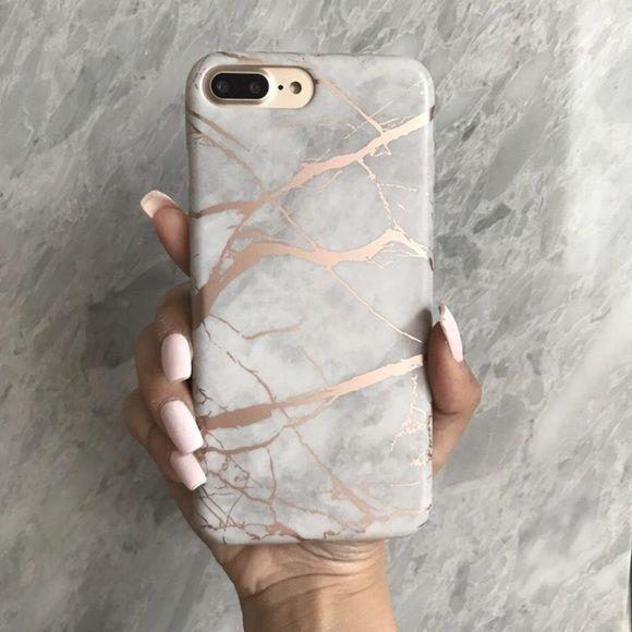 IPhone 6 / 6s / 6 + / 7/7 + Etui aus verchromtem Marmor – # 6s #von #case #ip ….   – Phonecases