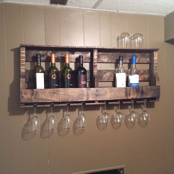 how to make a pallet wine rack what a great idea. Black Bedroom Furniture Sets. Home Design Ideas