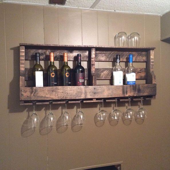 How to Make a Pallet Wine Rack | Pallet wine rack diy, Pallet wall ...
