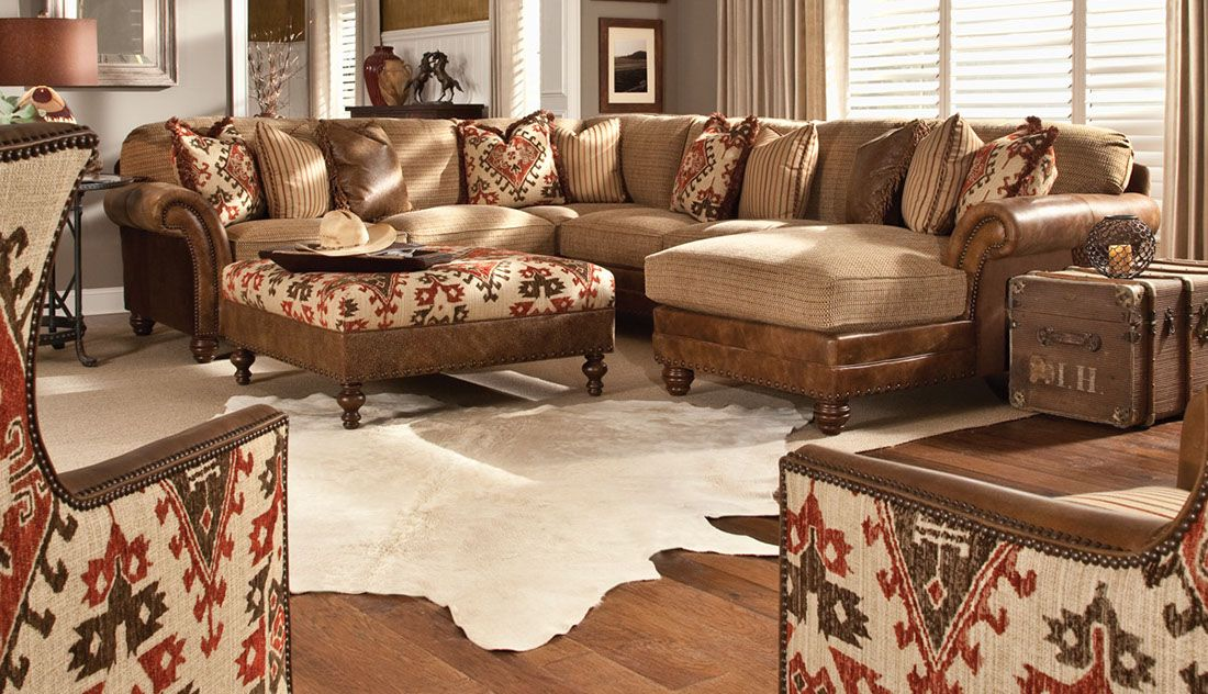 Western Style Sofa Sectional With Matching Chairs Ottoman