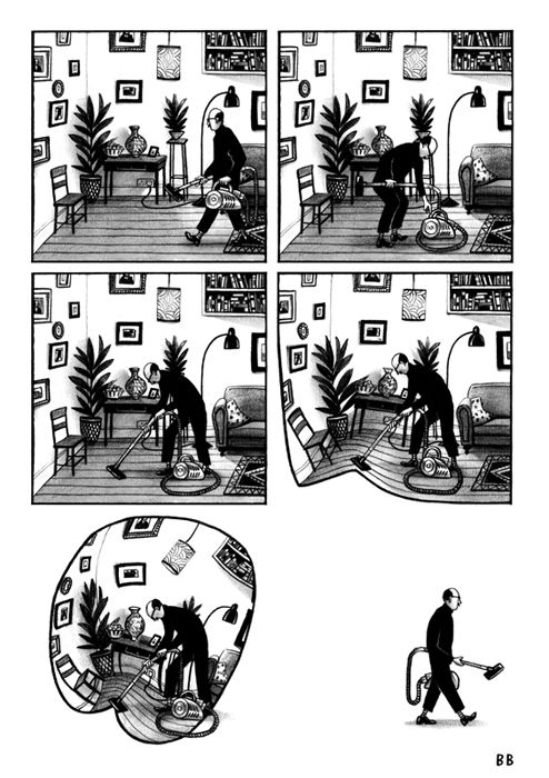 Marcel's Appendix Bill Bragg Illustration Comic layout