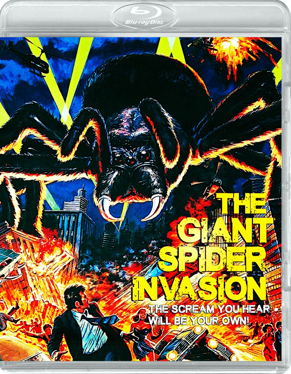 The Giant Spider Invasion Reverse Cover Blu Ray Dark Force Entertainment Giant Spider Comic Book Cover Book Cover
