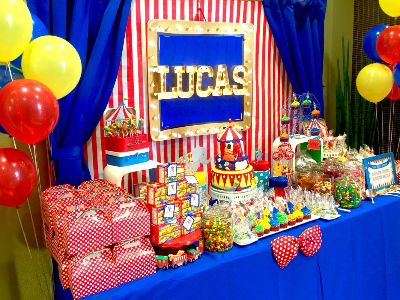Circus Theme Candy Table By Glam Candy Buffets Circus Birthday Party Theme Circus Birthday Party Decorations Carnival Birthday Party Theme
