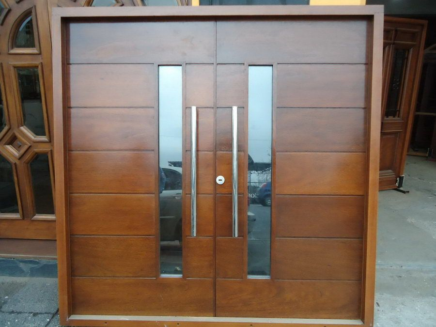 Image gallery puertas modernas for Puertas de entrada de madera modernas