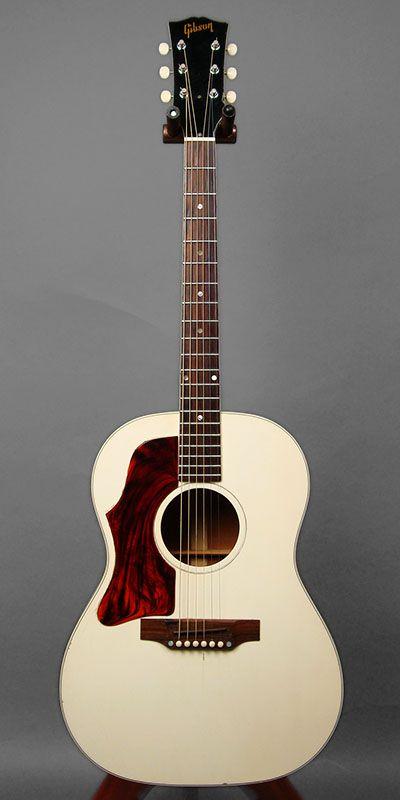 Blue G Gibson B 25 Lefty White Custom 1969 Left Handed Acoustic Guitar Gibson Guitars Beautiful Guitars