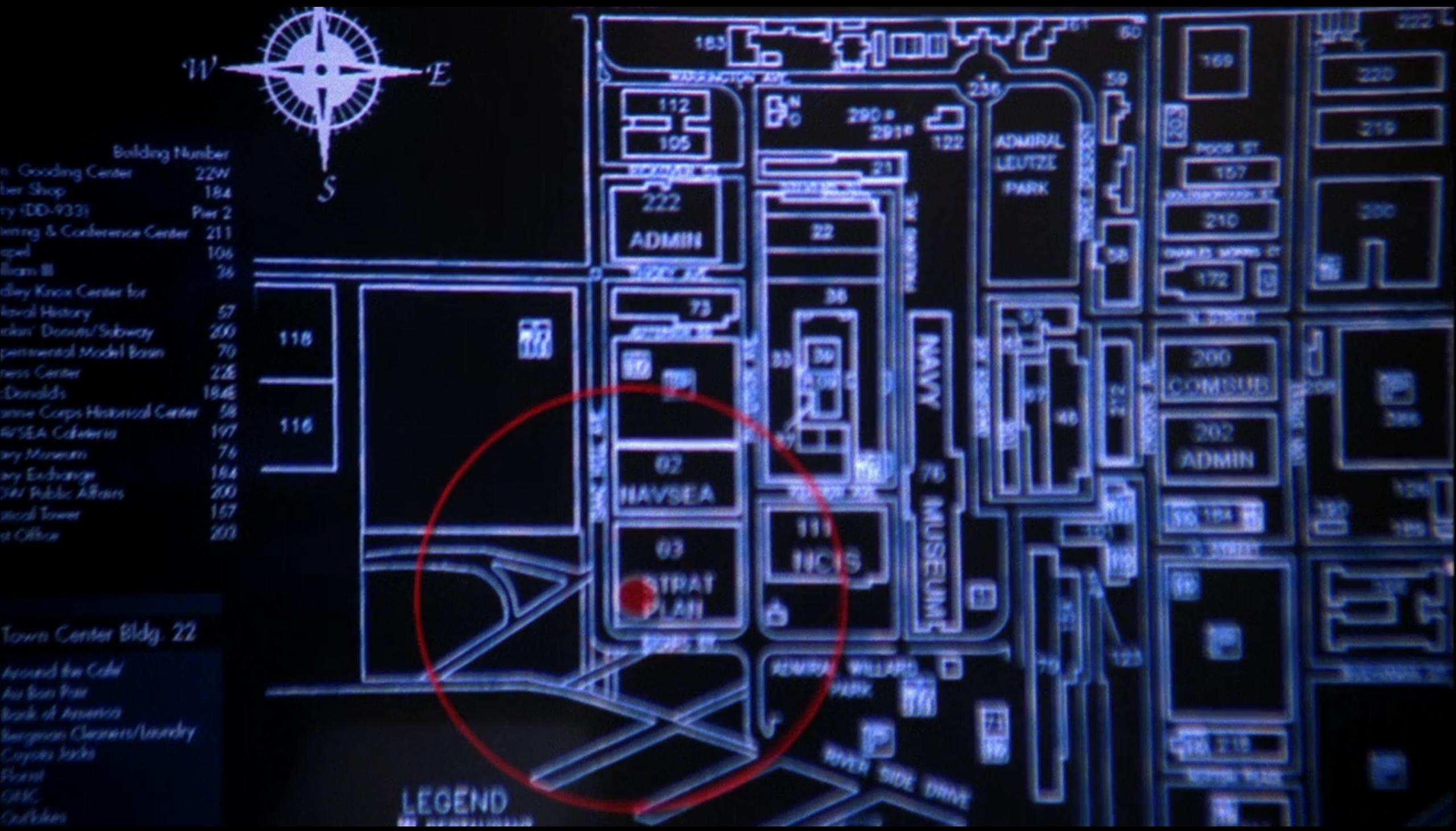 Map Of The Washington Navy Yard From S06e10 Road Kill Ncis